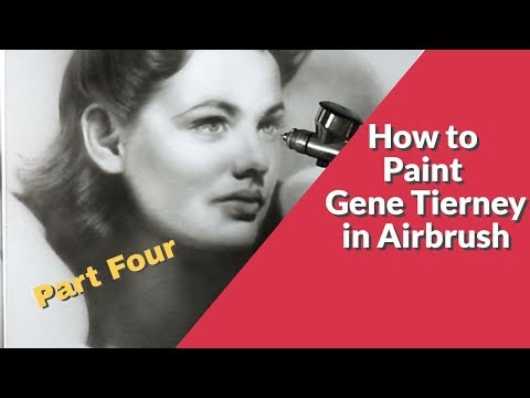 How to Paint Gene Tierney in India Ink and Airbrush Part Four
