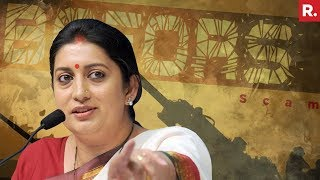 Smriti Irani Attacks Congress Over Bofors Scam | Full Press Conference