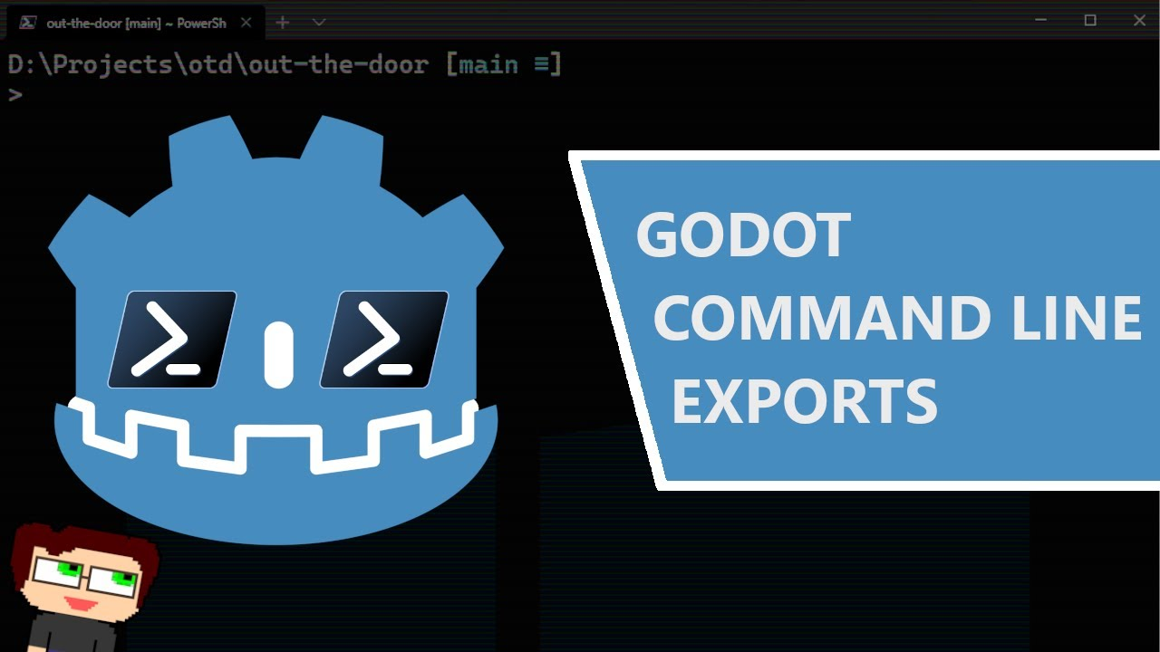 Thumbnail images for How to Export Godot Projects from the Command Line video