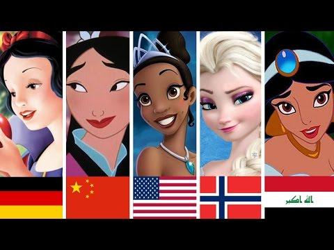 10 principesse Disney cantano nella loro lingua NATIVA