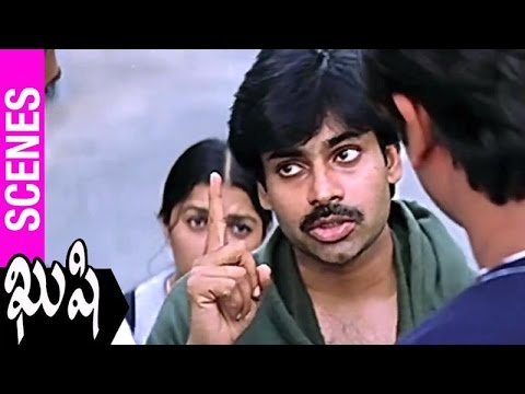 Pawan Kalyan Fights For Bhumika With Eve Teasers | Kushi Movie | Ali | SJ Surya | Mani Sharma