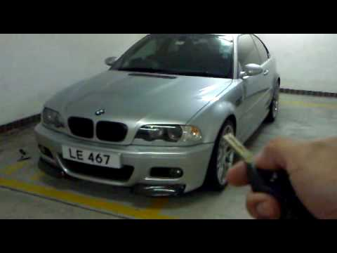 bmw e46 m3 angel eyes linked to the interior lights youtube. Black Bedroom Furniture Sets. Home Design Ideas