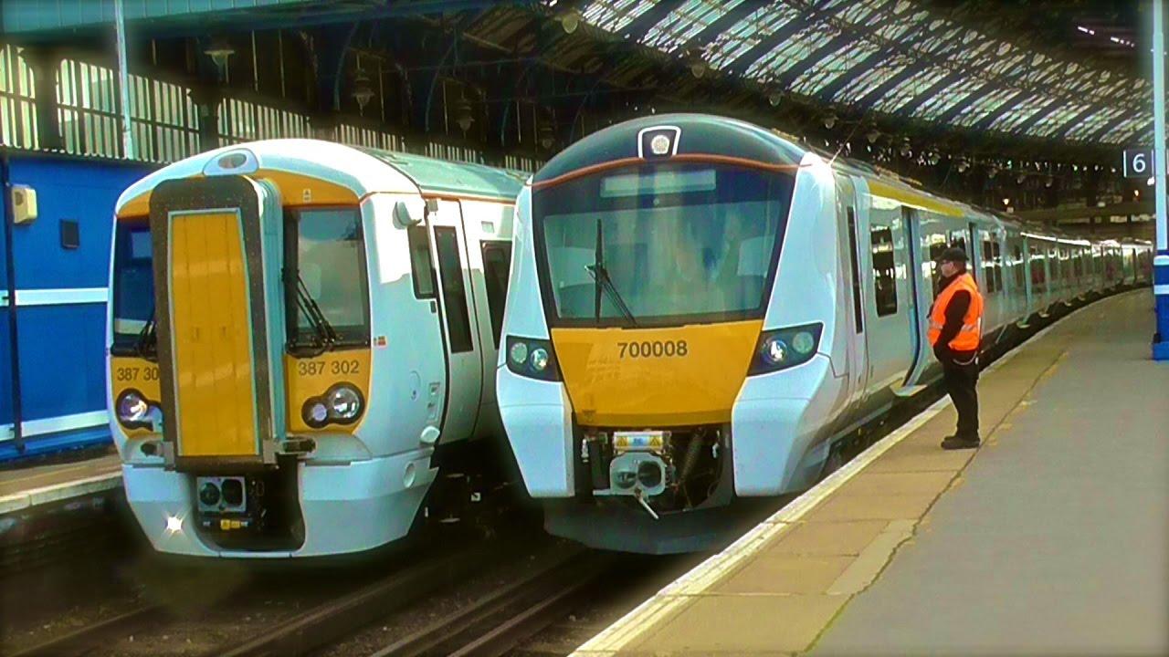 Thameslink Desiro City Class 700 8 Car 70008 Departs