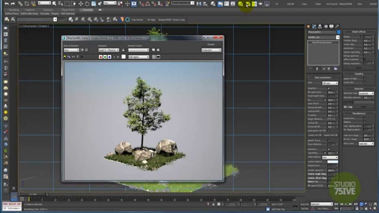 1 minute vray rendering set up with 3ds max daylight for Vray interior lighting rendering tutorial
