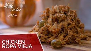 Chicken Ropa Vieja  Pollo Ripiao  Shredded Chicken  Made To Order  Chef Zee Cooks
