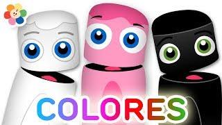 Aprender Colores - Rosado, Blanco y Negro   Colores para Niños   Pandilla de Colores   BabyFirst