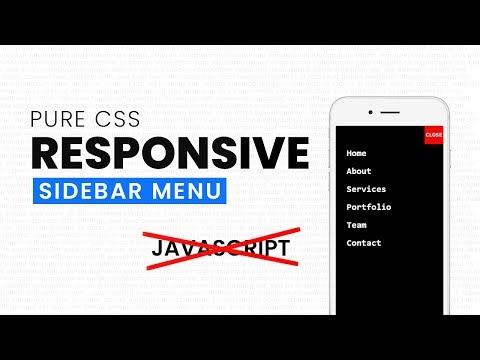 responsive menu bar | Nikkies Tutorials