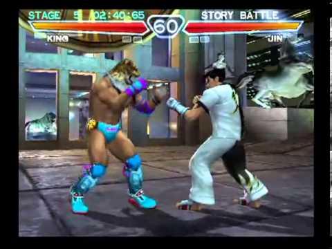 Tekken 4 Playstation 2 Story Battle As King Youtube