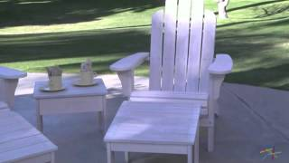 Cape Maye Weathered Adirondack Chair - Antique White - Product Review Video