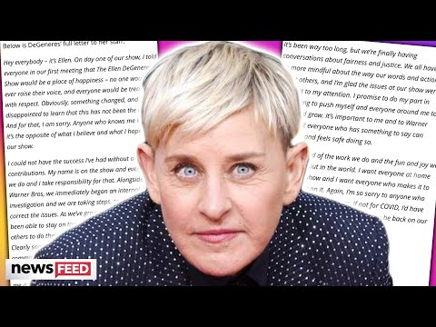 Ellen DeGeneres Finally RESPONDS To Mistreatment Allegations