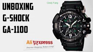 Unboxing Aliexpress Relógio G-Shock GA-1100 (Cindy Fang)
