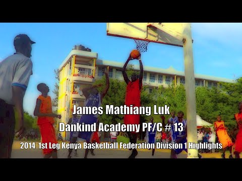 James Mathiang Luk (6ft 10) from South Sudan (Kenya Basketball Federation 1st Leg Highlights 2014)