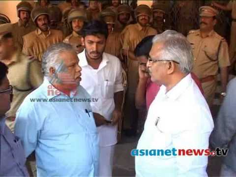 MV Jayarajan and P Jayarajan abuse local police officials in Kannur