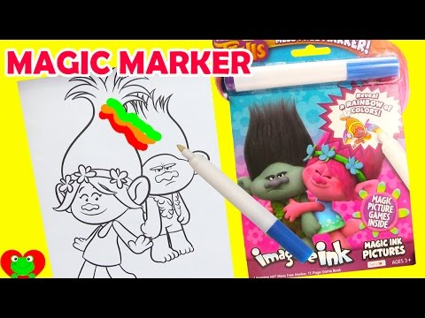 trolls imagine ink coloring magic marker and surprises - Imagine Ink Coloring Book