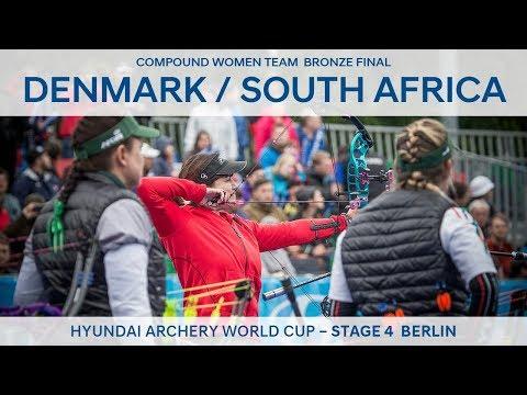 Denmark v South Africa – Compound Women Team Bronze Final | Berlin 2017