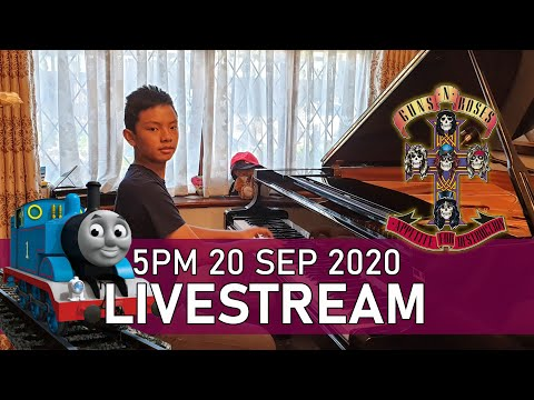 Sunday Piano Livestream 5PM Guns N Roses Don't Cry Thomas The Tank Engine Cole Lam 13 Years Old