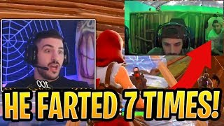 NickMercs Wants to Find Kid That FARTED 7 Times on Him During Grand Finals! - Fortnite Moments