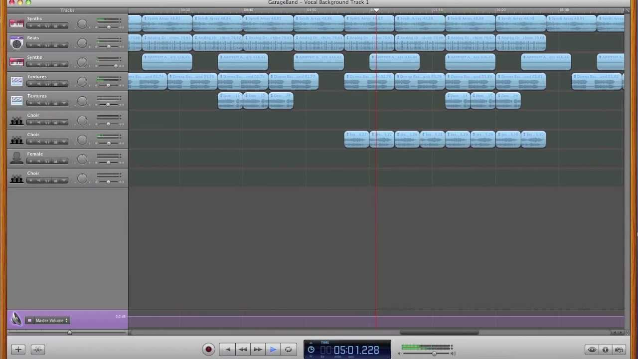 Mainstage Jam Pack Vocal Loops in GarageBand