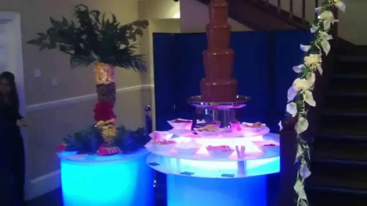 Chocolate Fountain Hire London Fruit Palm Tree Led Glow S
