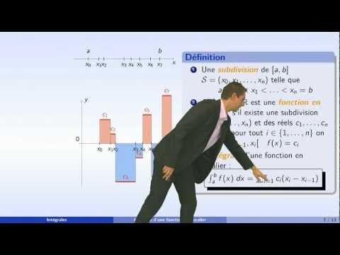 Intégrales - partie 1 : l'intégrale de Riemann