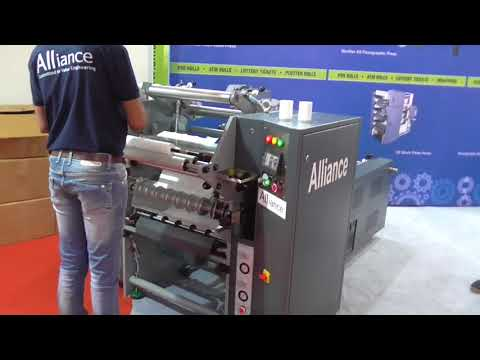 AUTOMATIC SLITTER REWINDER FOR POS/ATM ROLLS