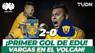 ¡Súper estreno! Primer gol de Vargas en el Volcán dentro de la Liga MX I Tigres 2-0 Pumas I TUDN
