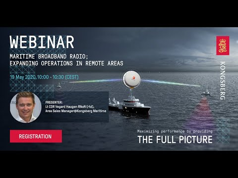 Webinar -  Maritime Broadband Radio - expanding operations in remote areas