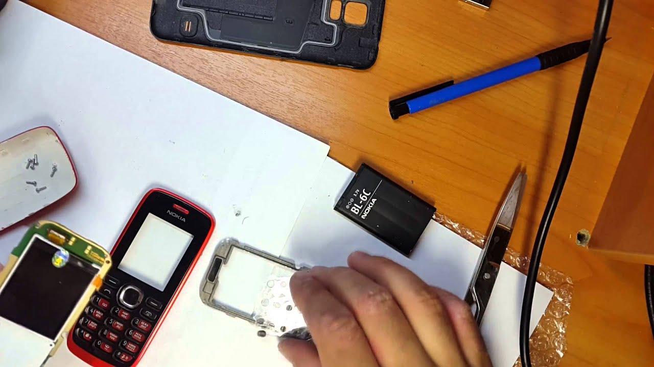 Замена дисплея на Nokia 112 - YouTube