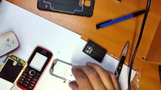 Замена дисплея на Nokia 112