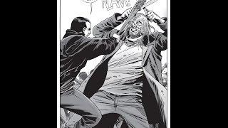 Negan vs Beta pelea épica - The walking dead (cómic) - Rip Lucille