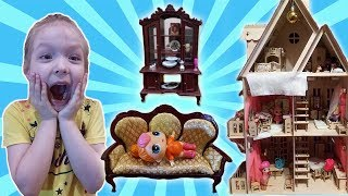 #ДОМИК для кукол #ЛОЛ.  Новая супер мебель для кукол на ДЕТСКОМ канале АНЯ И ВАНЯ