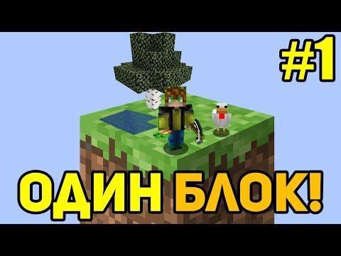Майнкрафт Скайблок, но у Меня Только ОДИН БЛОК - Minecraft Skyblock, But You Only Get ONE BLOCK