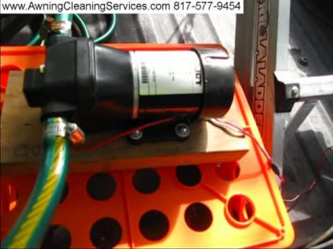 Awning Cleaning Electric Water Pumps 12 volt Dallas Fort Worth TX  817-577-9454 by Wayne Shockey