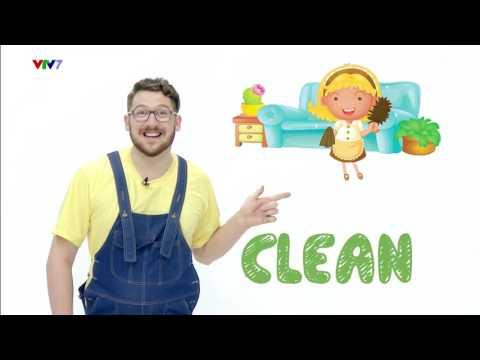 Tiếng Anh Trẻ Em| 5 Từ Mới Tiếng Anh Mỗi Ngày| Việc nhà