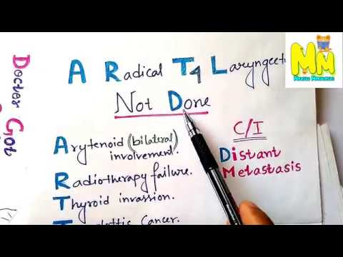 Mnemonic for Indications of Total Laryngectomy, ENT Mnemonic for ...