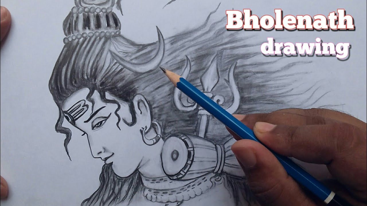 How to draw lord shiva bholenath drawing step by step sawan special