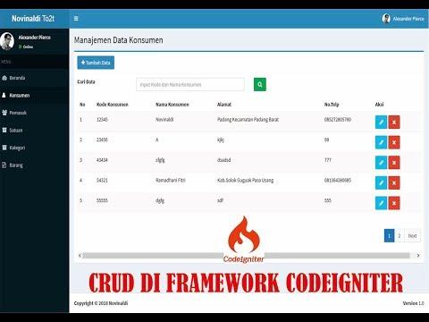 Harviacode Codeigniter Crud Generator