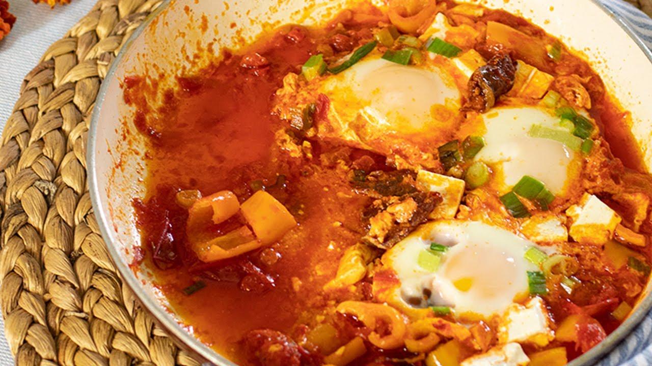 A Greek Breakfast Ready in 20 minutes! Eggs & Pasturma
