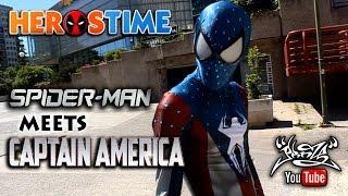 HEROSTIME - Spiderman Meets Captain America (Parkour)