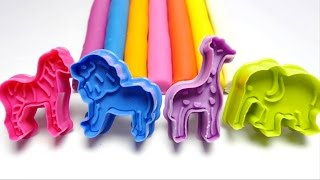 Learn Colours with PlayDough Modelling Clay with Molds Creative for Children Toddler