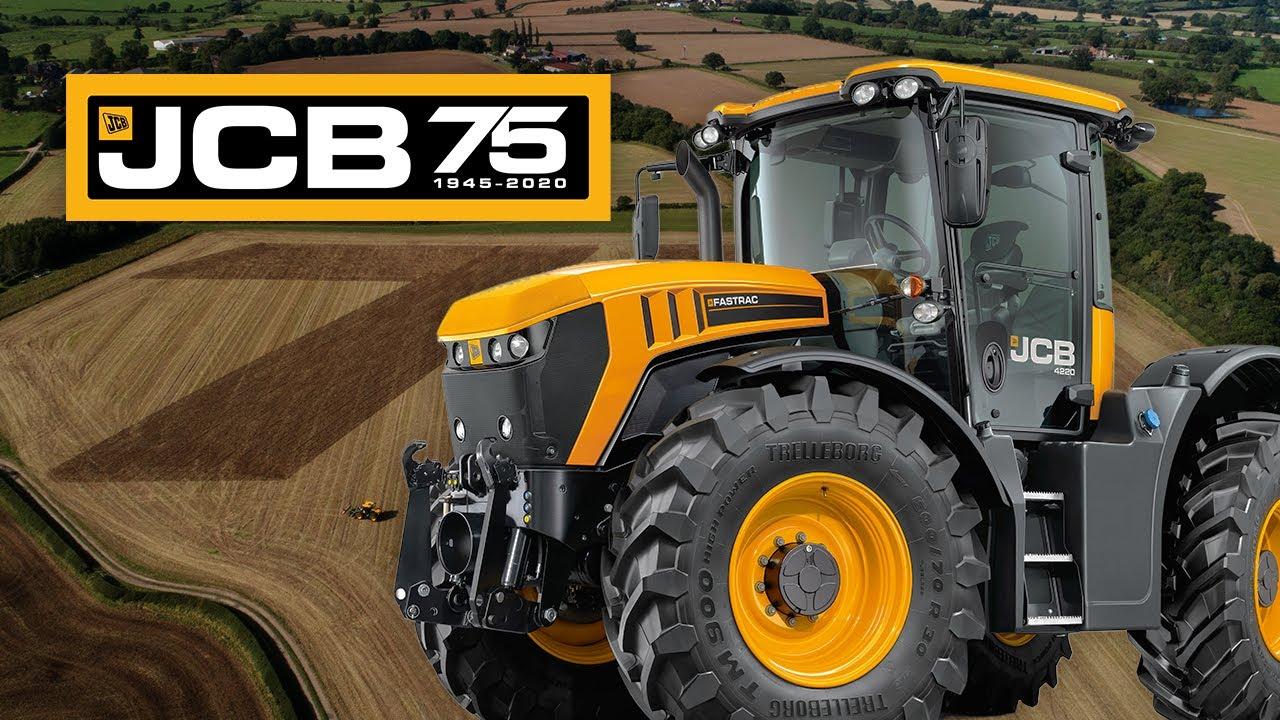 JCB's 75th Annivarsary Birthday Cultivation Celebration! - JCB Fastrac 4000 Series GPS Artwork