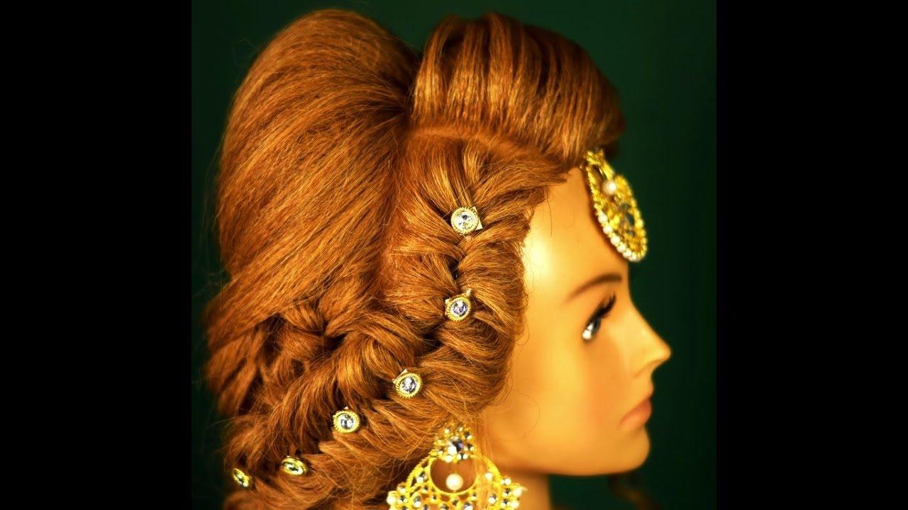 messy khajuri hairstyle for bridal engagement hairstyle (magic techniques by chnadra prakash patel)