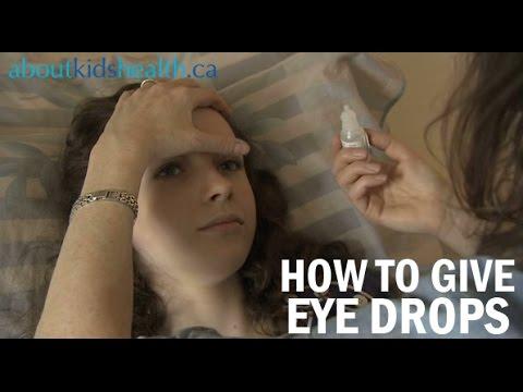 Giving eye drops to your child / Comment mettre les gouttes ophtalmiques à votre enfant