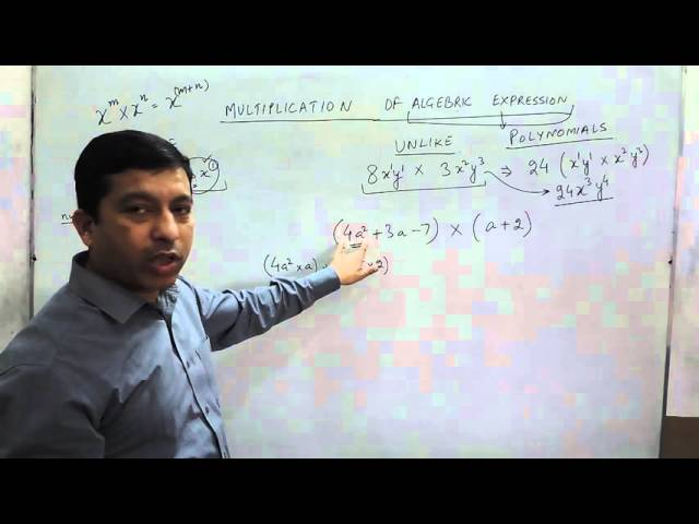 Multiplication of Algebraic Expressions