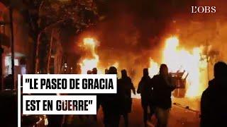 Des scènes de guérilla urbaine dans le centre de Barcelone