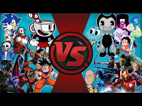 EVERYONE VS EVERYONE (Archie Sonic vs Goku, Sans, Cuphead, Gumball, Justice League, Avengers & More)