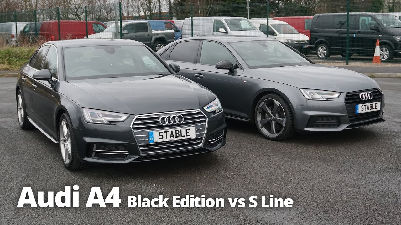 audi a4 saloon black edition vs s line stable lease. Black Bedroom Furniture Sets. Home Design Ideas