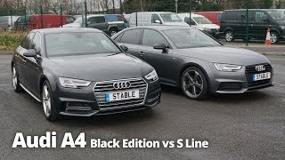 Audi A4 Saloon Black Edition vs S Line | Stable Lease