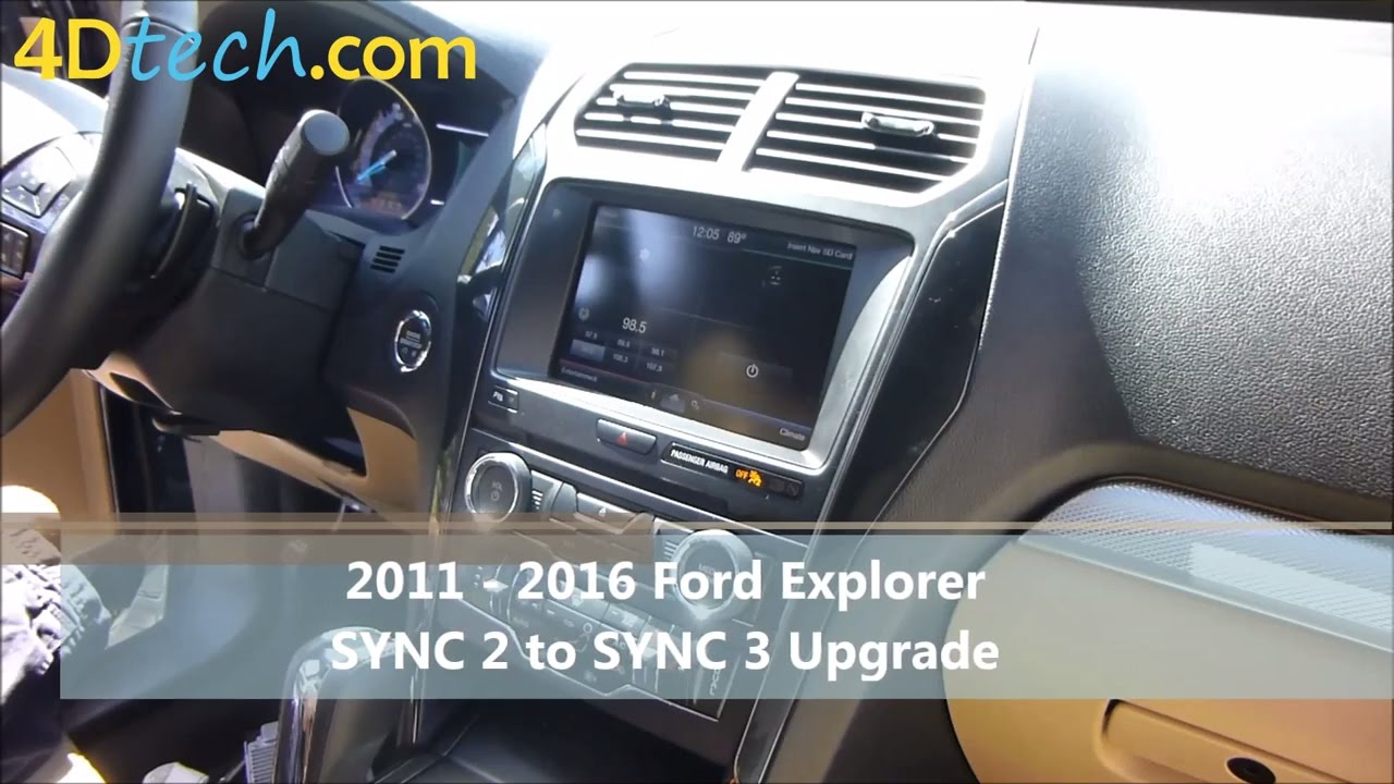 sync 2 to sync 3 upgrade 2011 2016 ford explorer youtube. Black Bedroom Furniture Sets. Home Design Ideas