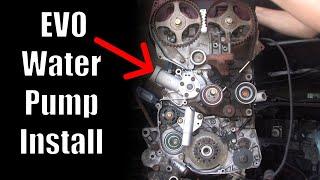 Mitsubishi Water Pump install - Evo8 Evo9 - Lancer Evolution
